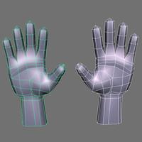 hands mesh obj