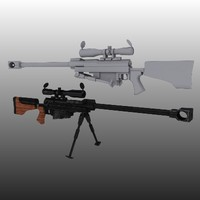 3d model hecate ii rifle
