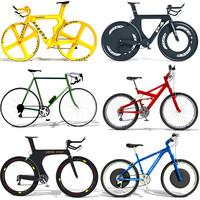 6 bikes 3d model