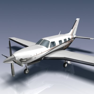 3d model piper pa-46-500 malibu meridian