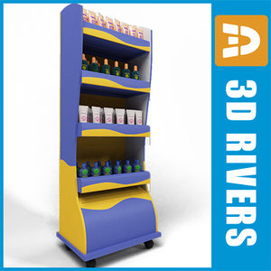 3d model cosmetics display case
