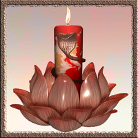 candle stand flower 3d model