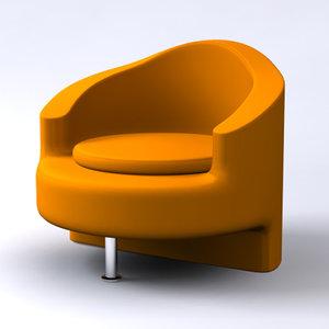 modern contemporary chair 3d 3ds