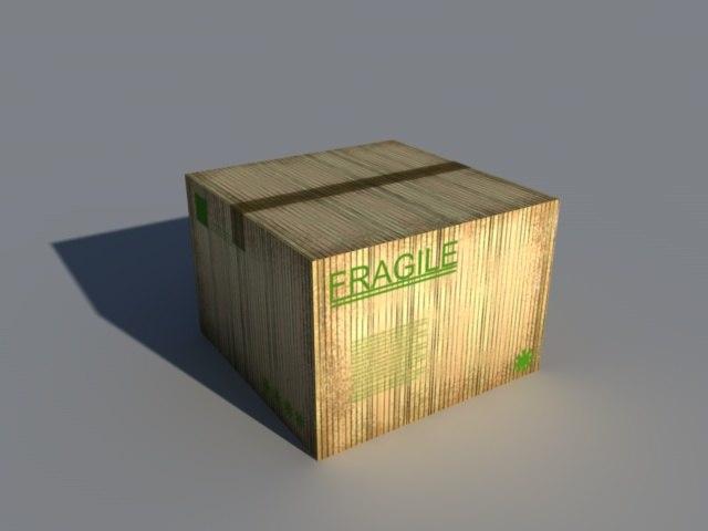 industrially cardboard box 3d 3ds