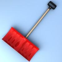 3ds snow shovel