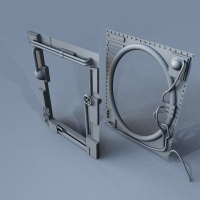 steampunk picture frames 3d max