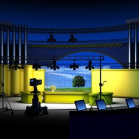 Virtual TV Studio Set 6.Nature