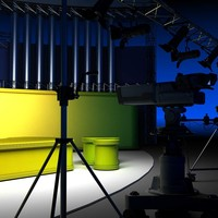 virtual tv studio set 3d 3ds