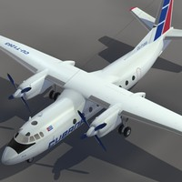 3d 3ds aircraft an-24 transport cubana