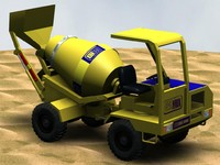 3d model carmix concrete mixer truck