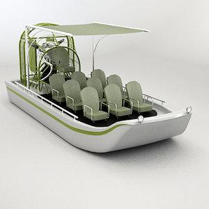 airboat swamp air 3d max