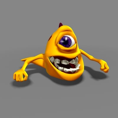 3d stylized monster character