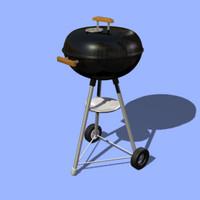 charcoal grill single 3d obj