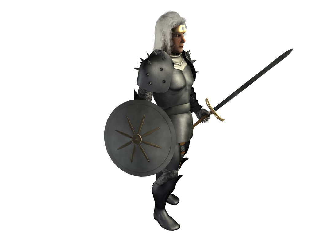3ds medieval soldier