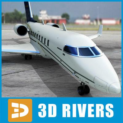 3d model bombardier challenger 605