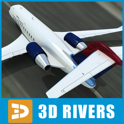 bombardier challenger 850 3d model