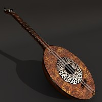 turkish zither 3d c4d