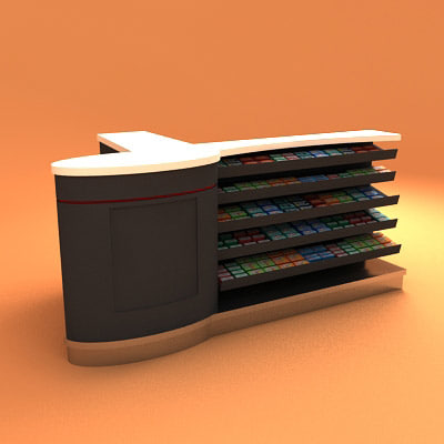 3d airport counter model