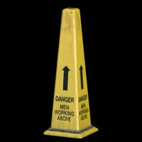 3d safety cone