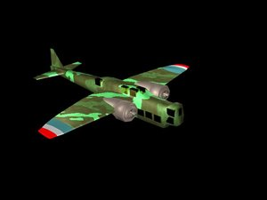 early ww2 french bomber 3d model
