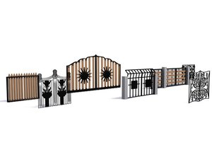 3d model decorative gates