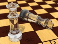Glass Chess with Board