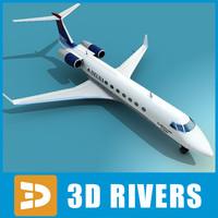 3d model gulfstream g500