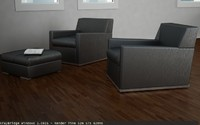 sofa v-ray materials imprimatur 3d 3ds