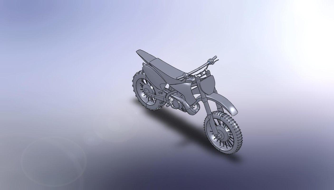 3d ige solid offroad bike -
