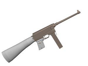 french post ww2 gun 3d model