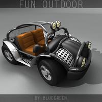 3d model of cartoon outdoor
