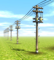 telephone power pole 3d obj