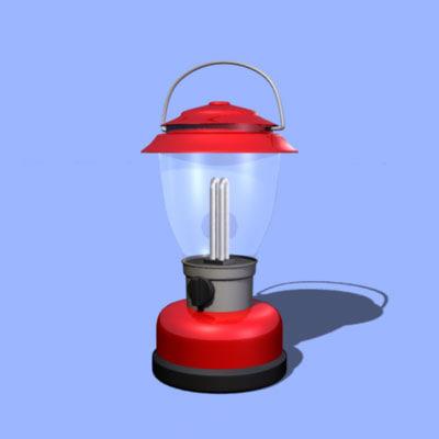electric lantern single 3d obj