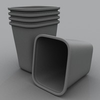 waste basket 3d model