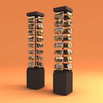 3d postcard spinner model
