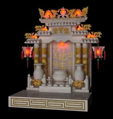 3d chinese spirit house model
