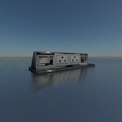 3d table outlet grommet model
