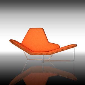 chair modern design 3d model