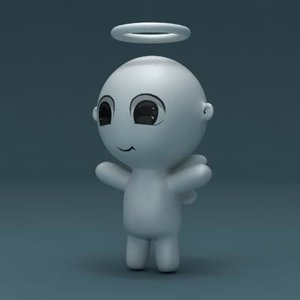 3d angel toy
