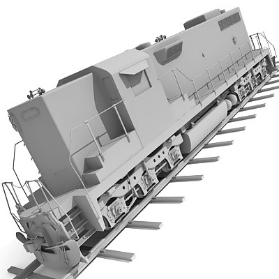 3ds max train railway
