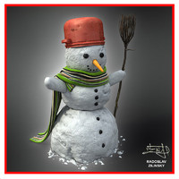 SNOWMAN 02 (HIGH detail and realism)