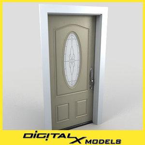 3d model residential entry door 03