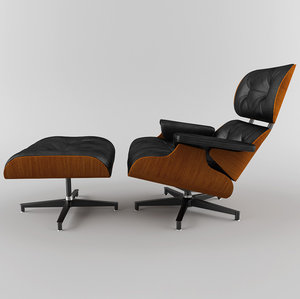 3dsmax lounge chair 670 eames