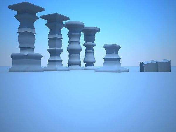 3d model column fantasy