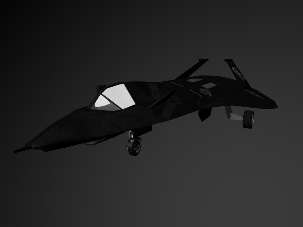 3d f19 stealth fighter f-19 model