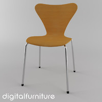 3d jacobsen butterfly chair model