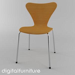 3d jacobsen butterfly chair model