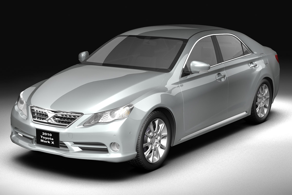 luxury sedan car 3d model