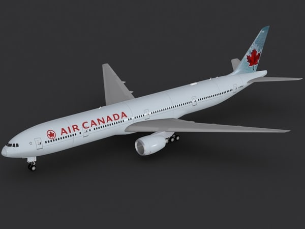 b 777-300 er air canada 3d model