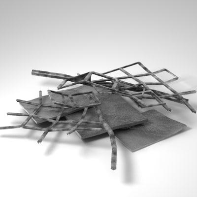 metal debris 3d 3ds